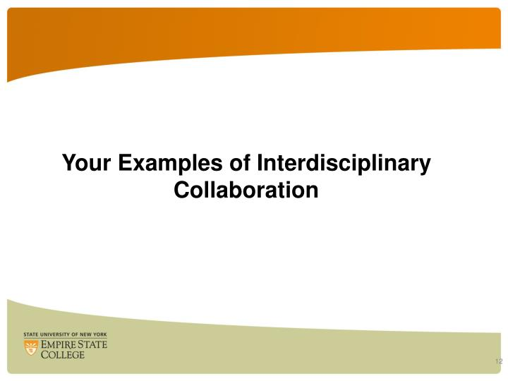 Your Examples of Interdisciplinary Collaboration