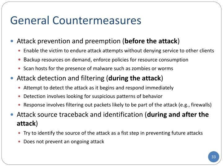General Countermeasures