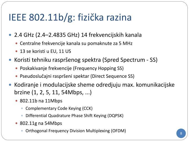 IEEE 802.11b/g: fizi