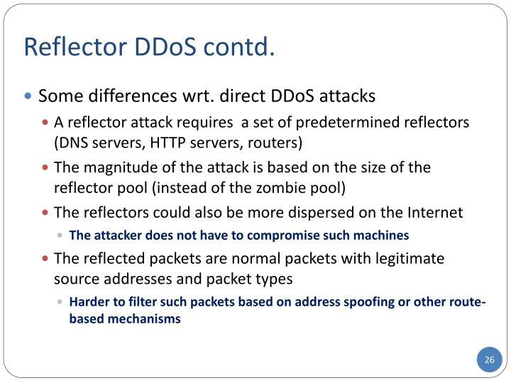 Reflector DDoS contd.