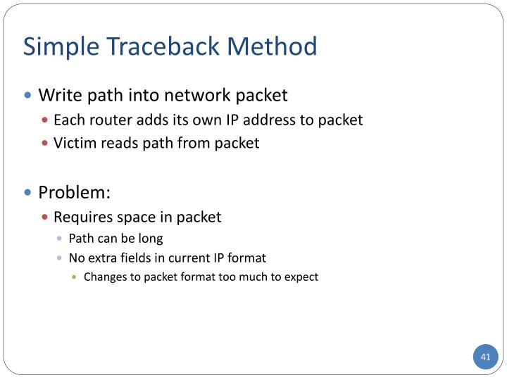 Simple Traceback Method