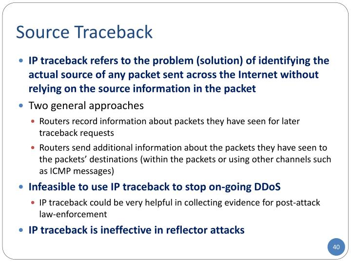 Source Traceback