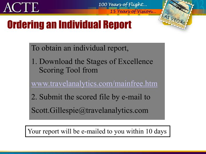 Ordering an Individual Report