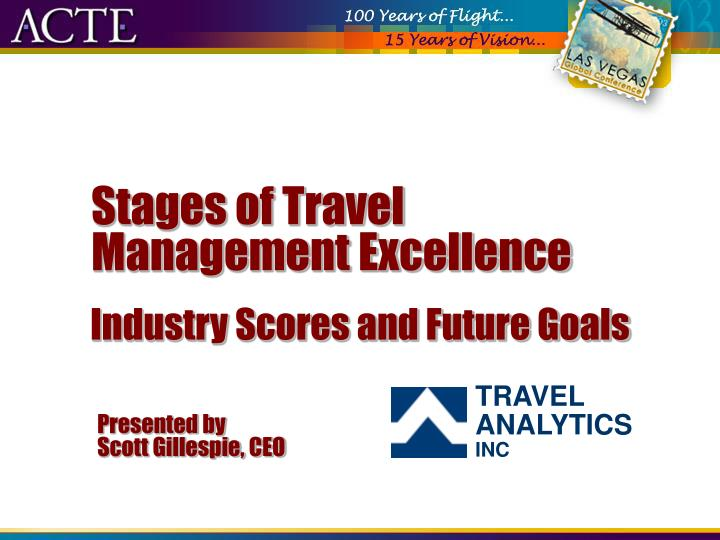 Stages of travel management excellence