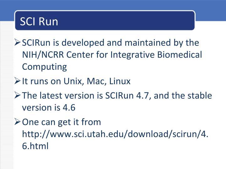SCI Run