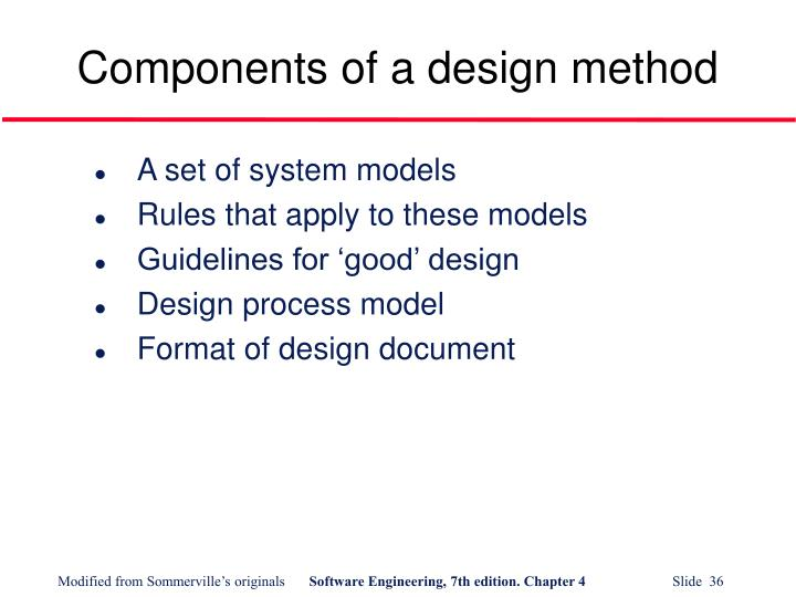 Components of a design method