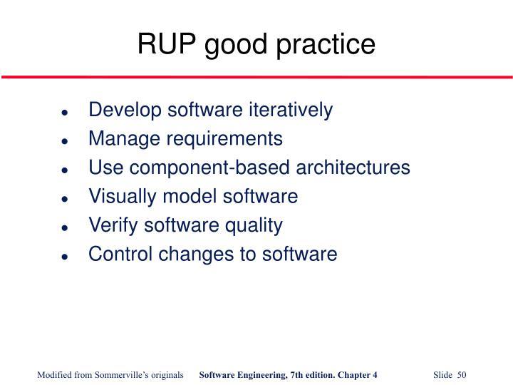 RUP good practice