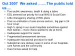 oct 2007 we asked the public told us