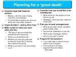 planning for a good death