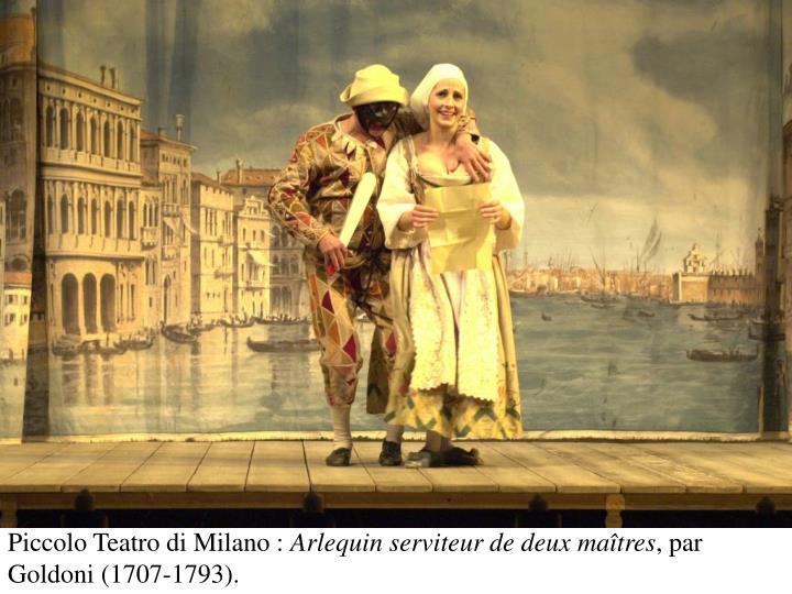 Piccolo Teatro di Milano :