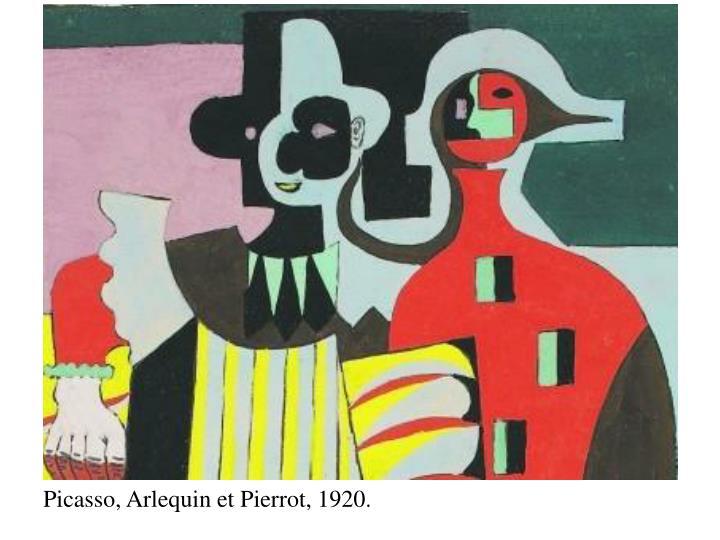 Picasso, Arlequin et Pierrot, 1920.