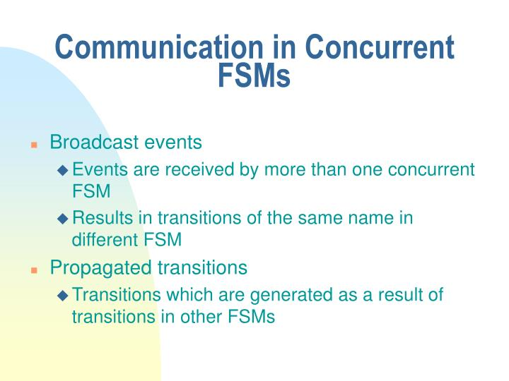 Communication in Concurrent FSMs
