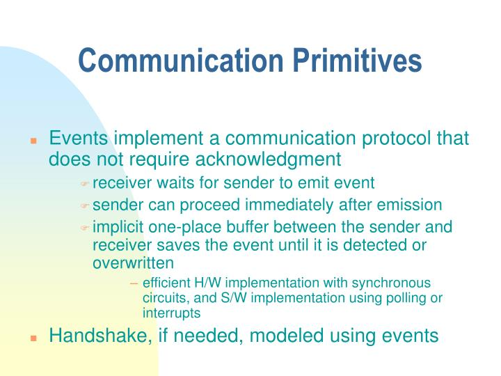 Communication Primitives