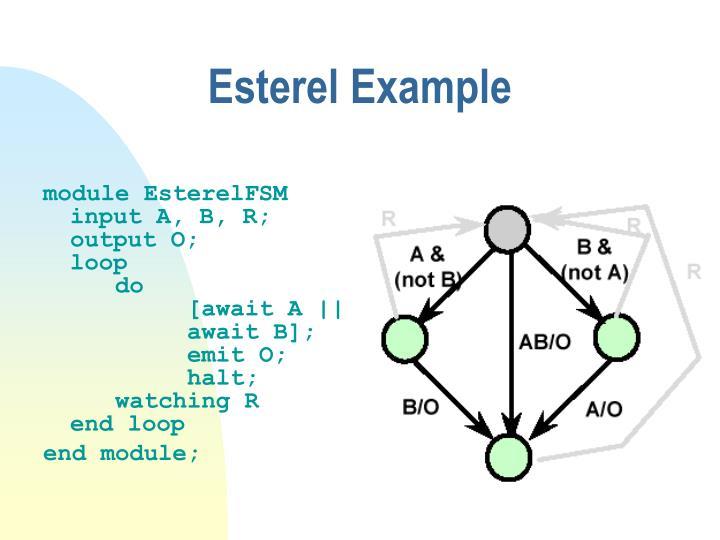 Esterel Example