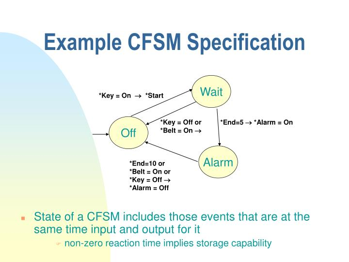 Example CFSM Specification