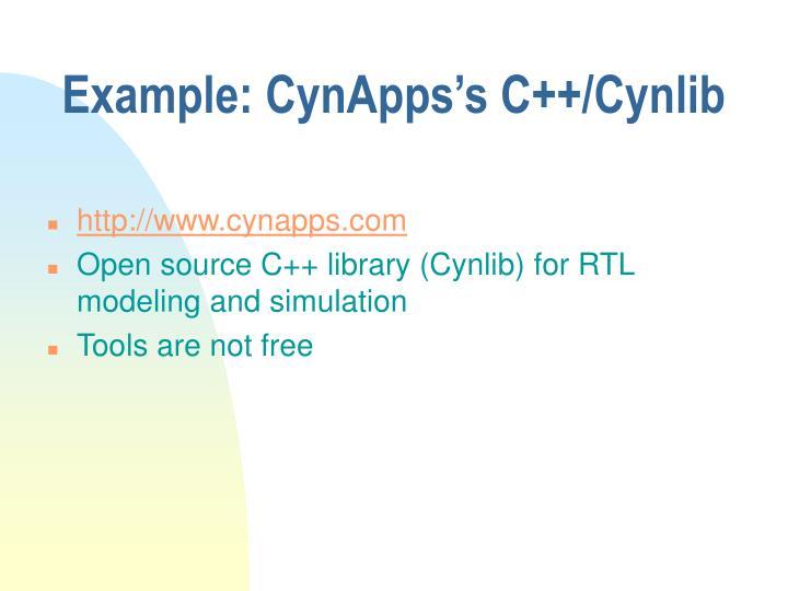 Example: CynApps's C++/Cynlib