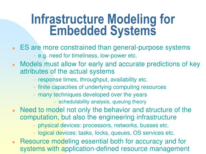 Infrastructure Modeling for Embedded Systems