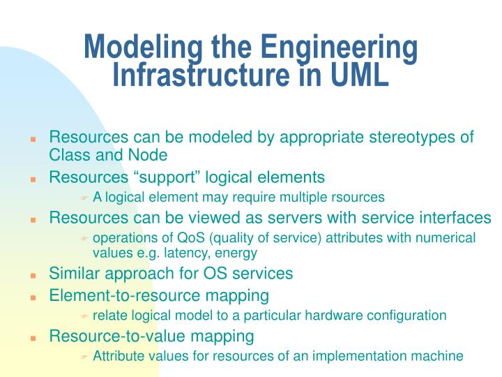 Modeling the Engineering Infrastructure in UML