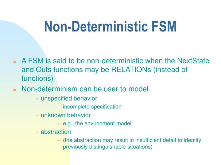 Non-Deterministic FSM