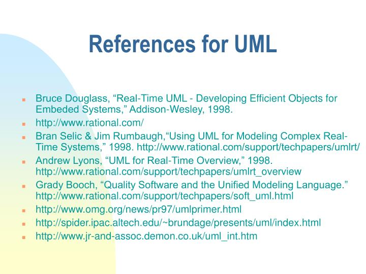References for UML