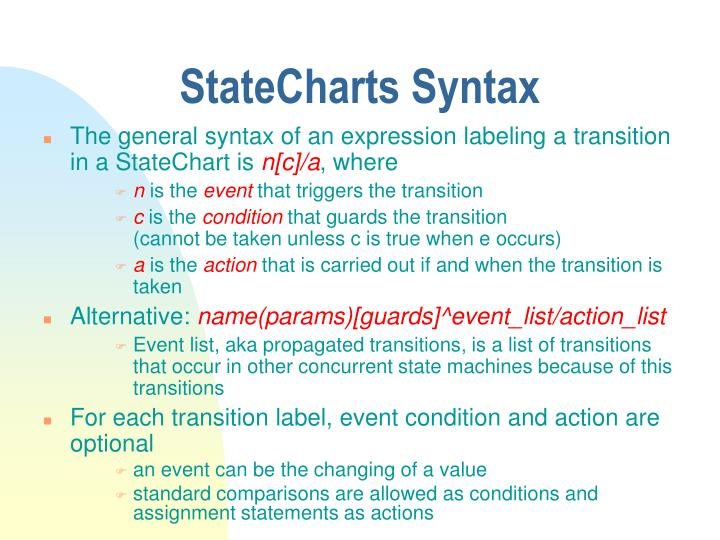 StateCharts Syntax