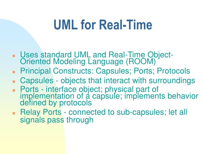 UML for Real-Time