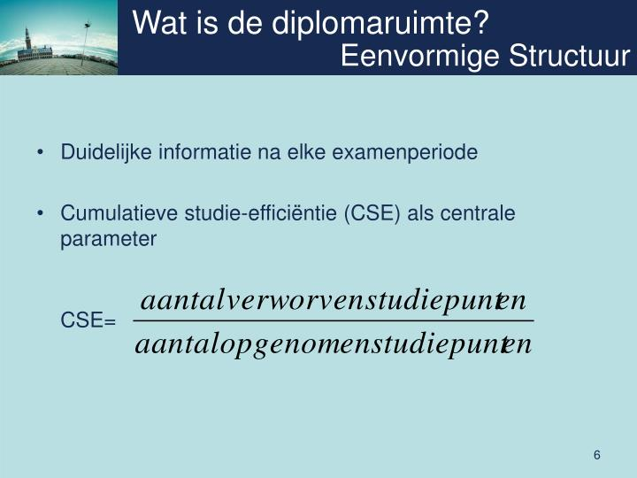 Wat is de diplomaruimte?