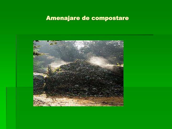 Amenajare de compostare