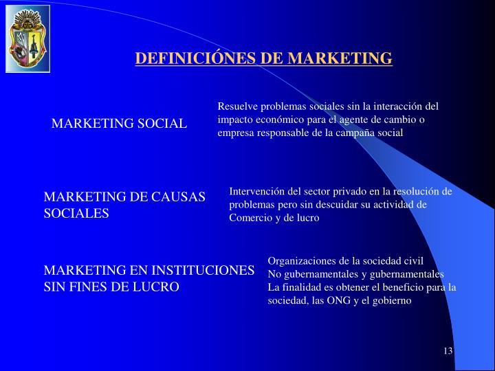 DEFINICIÓNES DE MARKETING