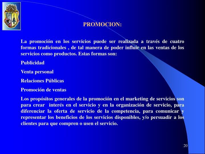PROMOCION: