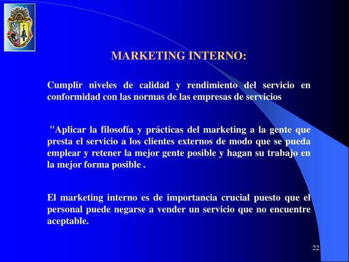 MARKETING INTERNO:
