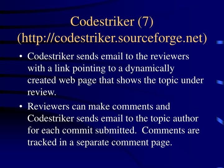 Codestriker (7)