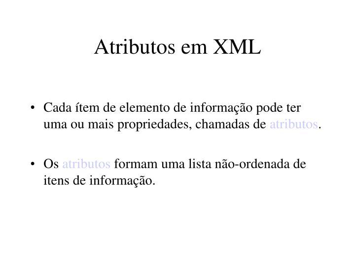 Atributos em XML