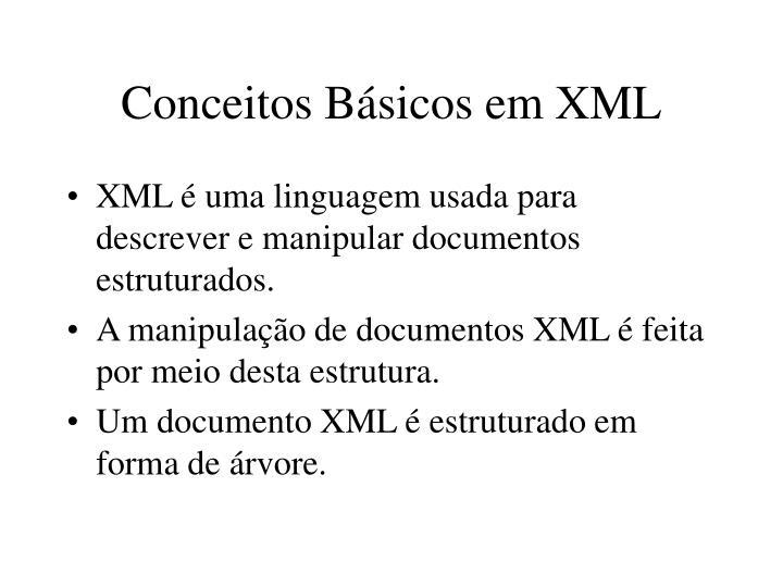 Conceitos Básicos em XML