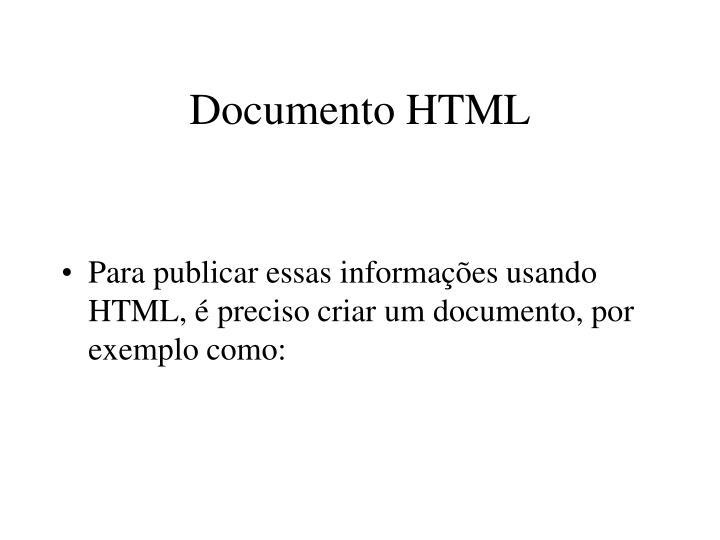 Documento HTML