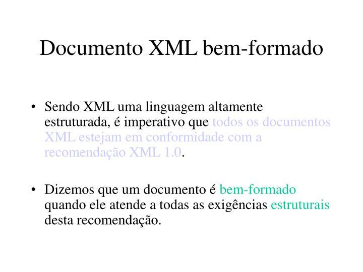 Documento XML bem-formado