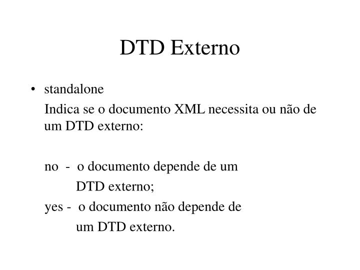 DTD Externo