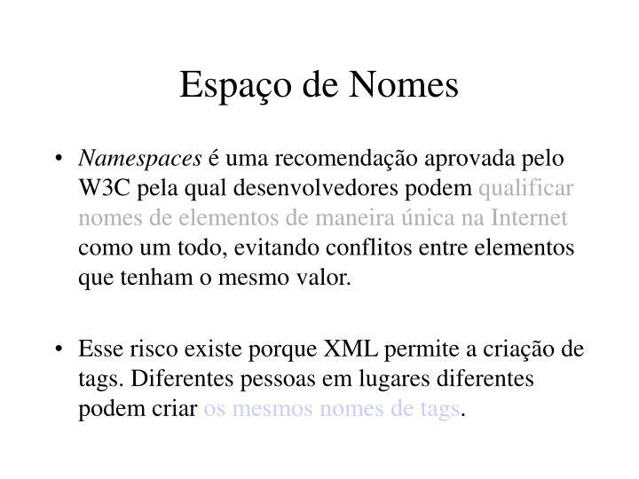 Espaço de Nomes
