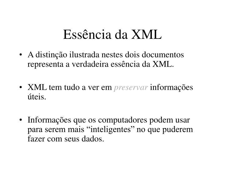 Essência da XML