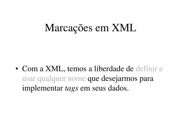 Marcações em XML