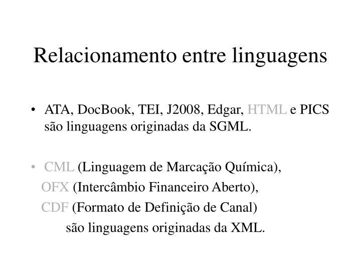 Relacionamento entre linguagens