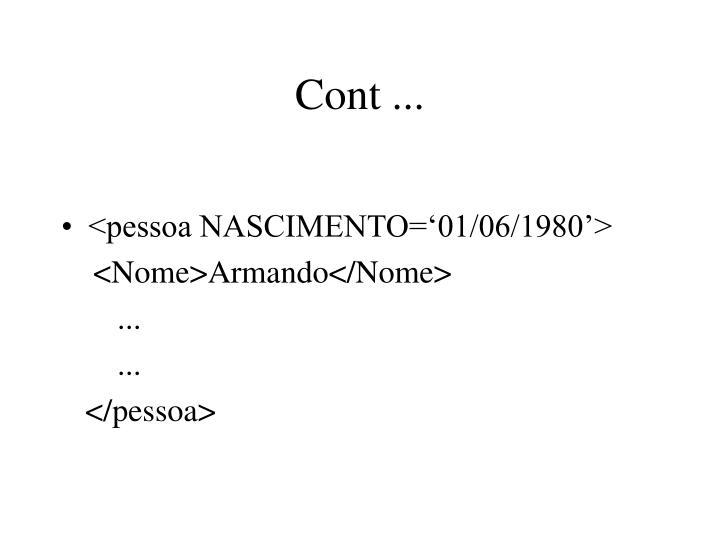 Cont ...