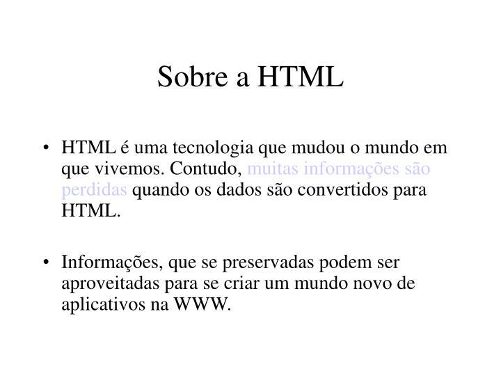 Sobre a HTML