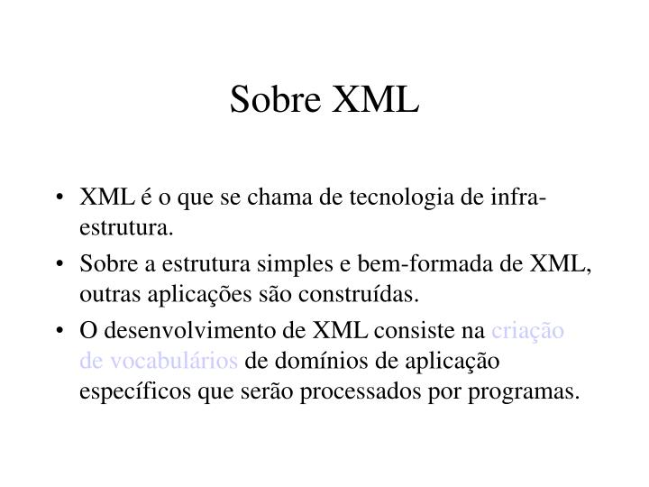 Sobre XML