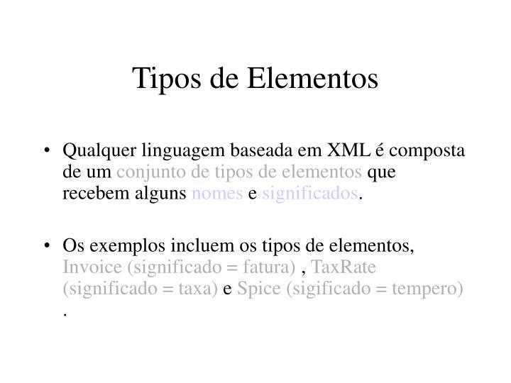 Tipos de Elementos