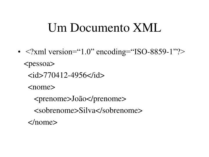 Um Documento XML