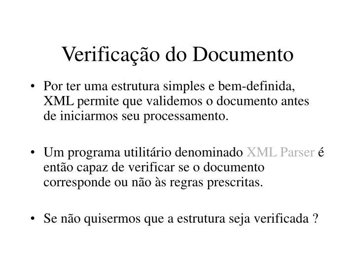 Verificação do Documento