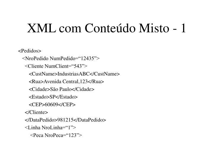 XML com Conteúdo Misto - 1