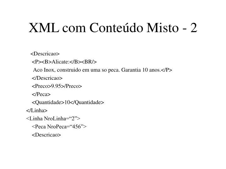XML com Conteúdo Misto - 2