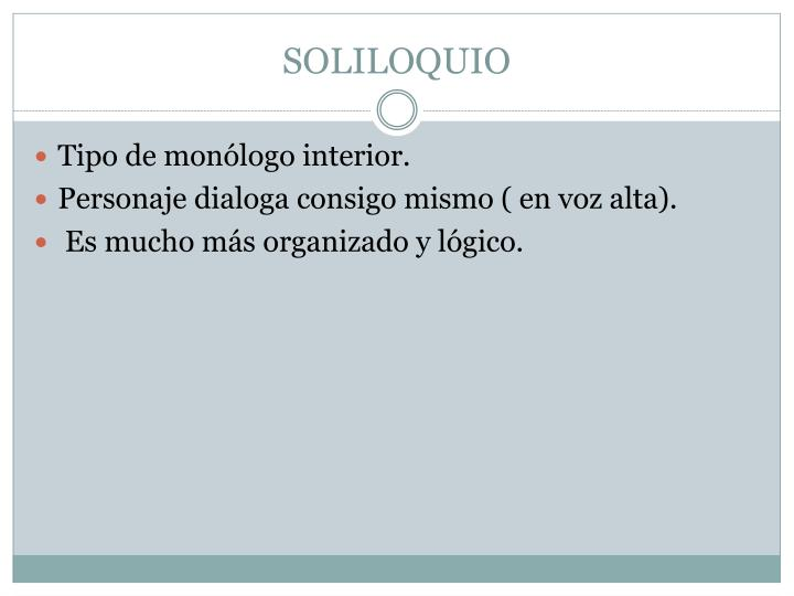 SOLILOQUIO
